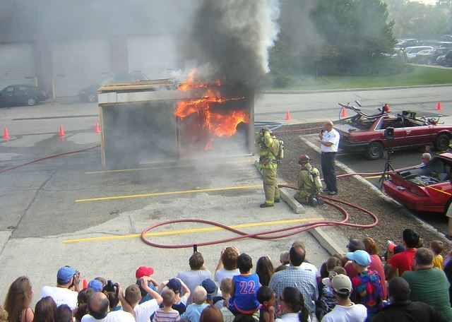 Our popular live burn demonstrations show firefighting techniques, and demonstrate the effectiveness