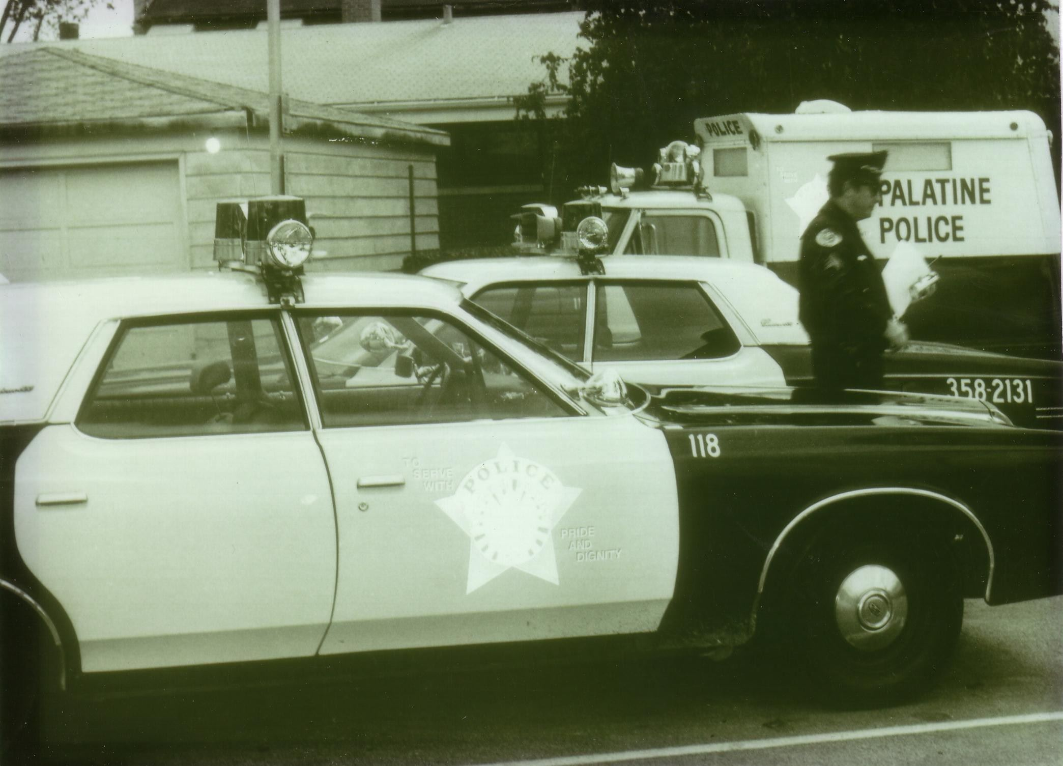 Police Cars and Officer 1974